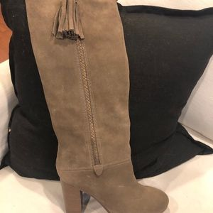 Coach Knee High Brown/Grey Boots - 7.5